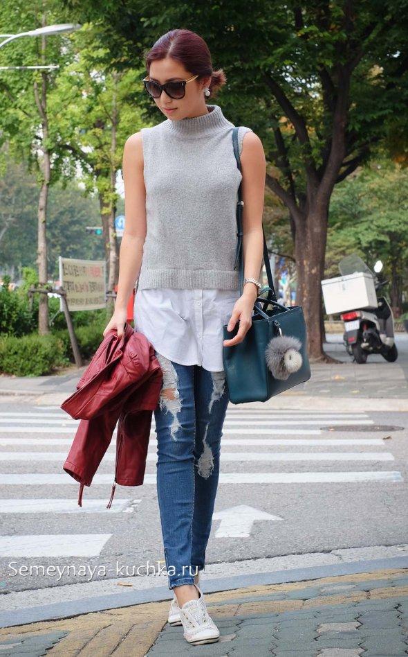 что носить осенью с джинсами