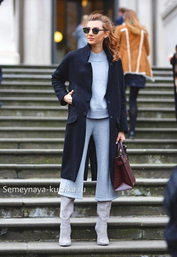 какие брюки носить осенью с сапогами
