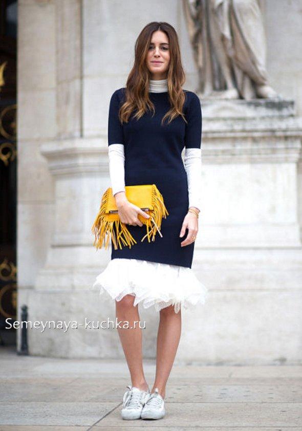 платье как носить осенью