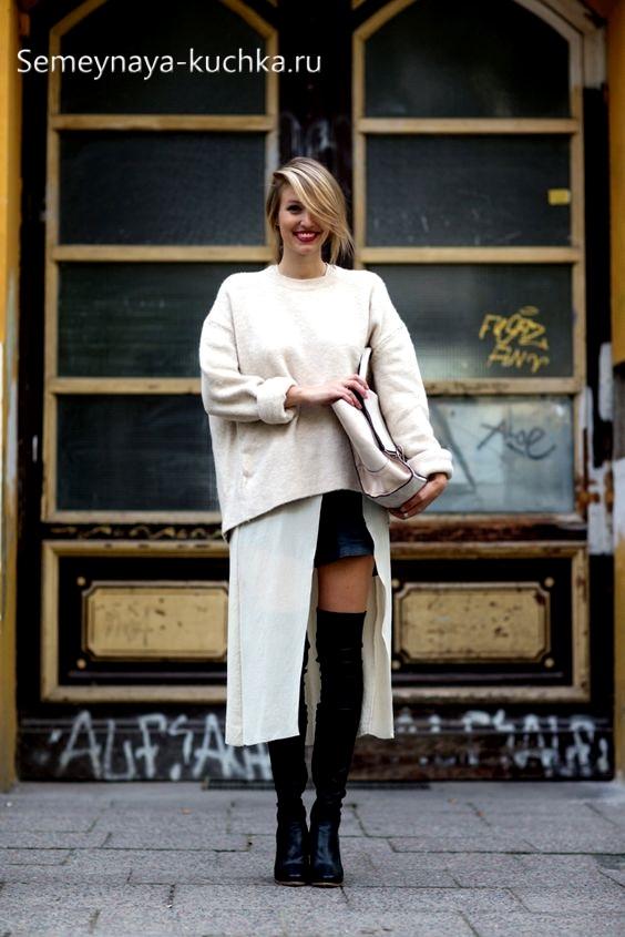 как носить осенью юбки и сапоги