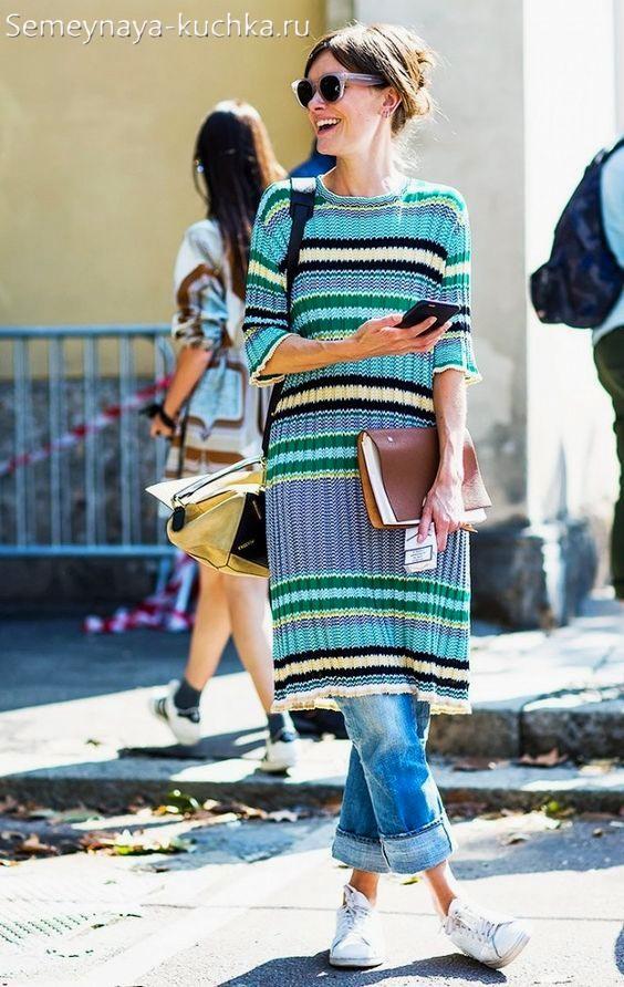 как носить осенью теплое платье