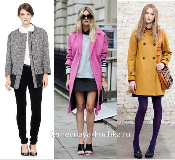 как носить босоножки с пальто