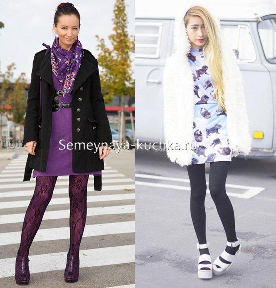 как носить босоножки осенью с пальто