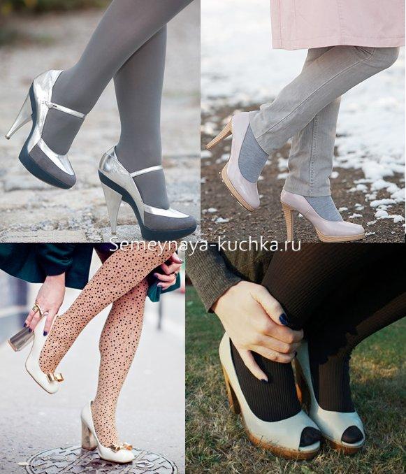 пальто с туфлями как носить