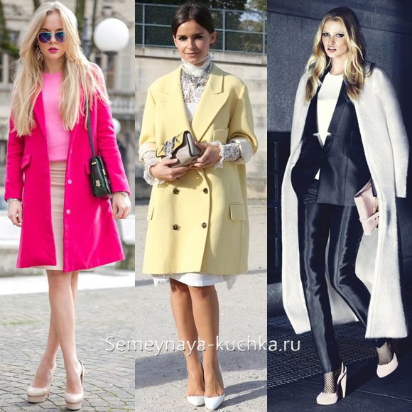 светлые туфли с пальто