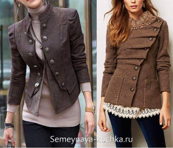 с чем носить пальто-жакет