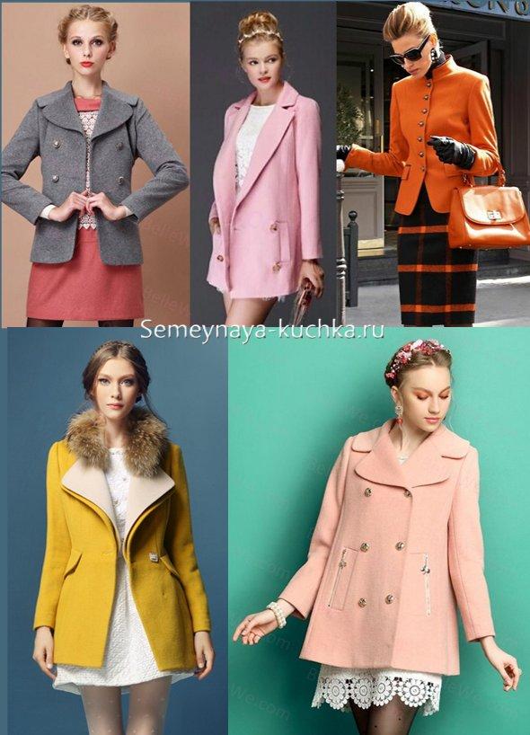 как носить модное пальто пиджак с юбкой