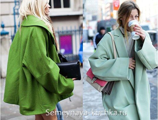 пальто оверсайз с чем носить