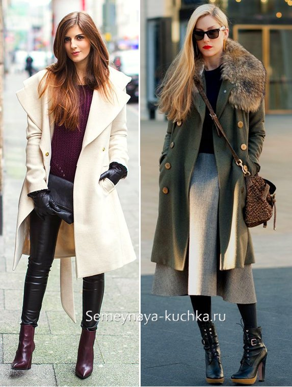 с чем носить приталенное пальто
