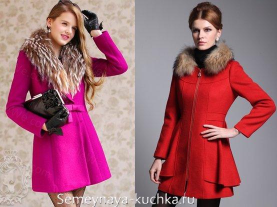 как носить пальто с меховым воротником