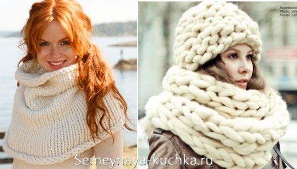 шарф-снуд под пальто