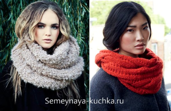 шарф-хомут на пальто