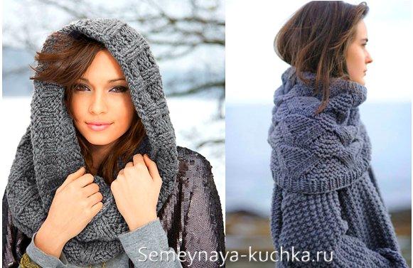 шарф труба на пальто