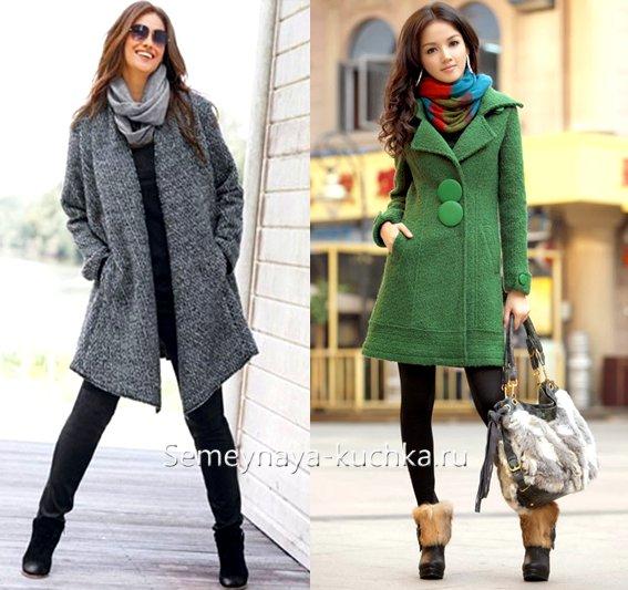 как подобрать шарф-снуд к пальто