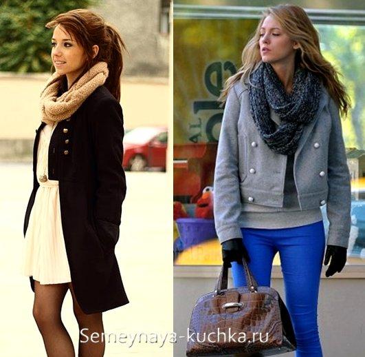 как подобрать шарф под пальто