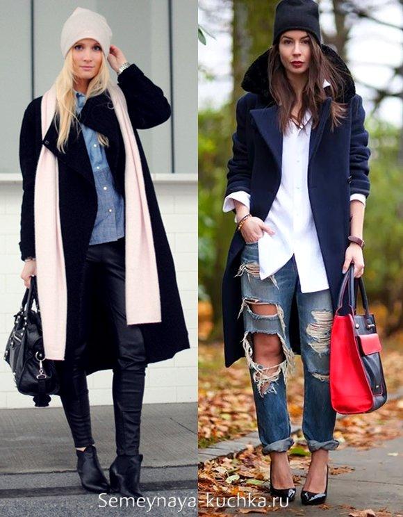 трикотажная шапка к пальто