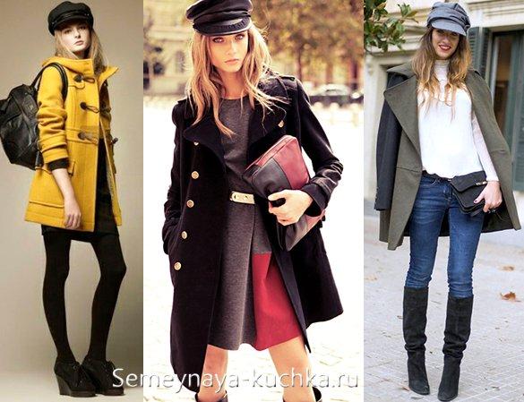 шапка-фуражка к пальто