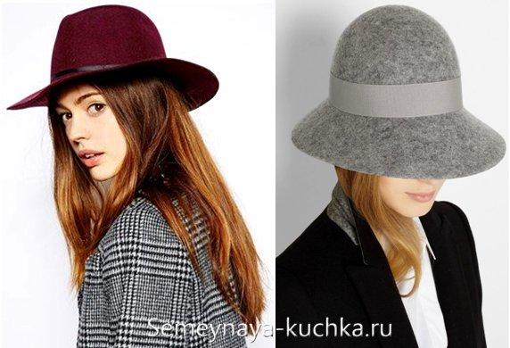 фетровая шляпа с пальто