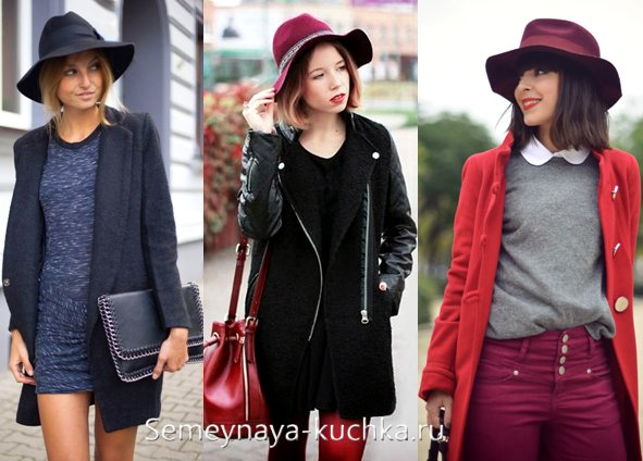 как носить шляпу с пальто