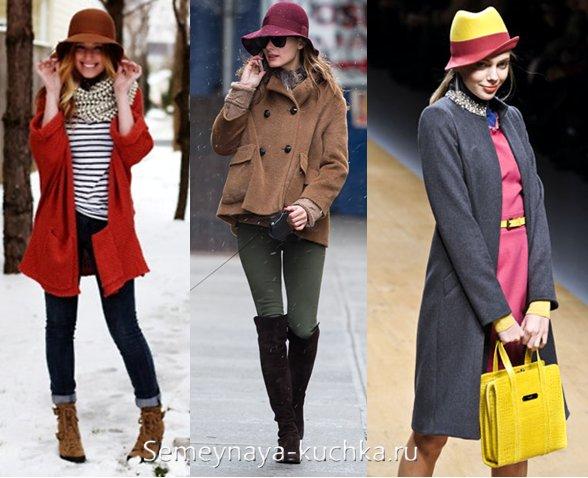какого цвета выбрать шляпу под пальто