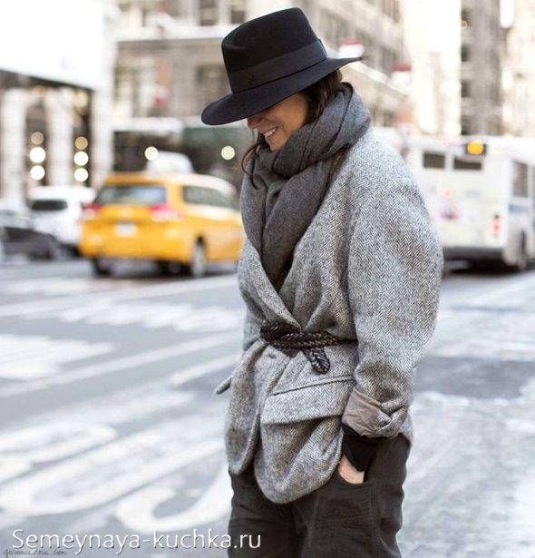 шарф на пальто