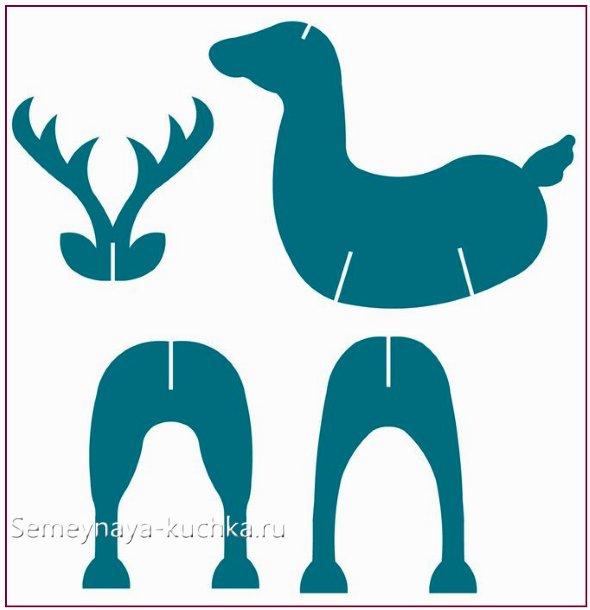 схема чертеж поделки олень в офис
