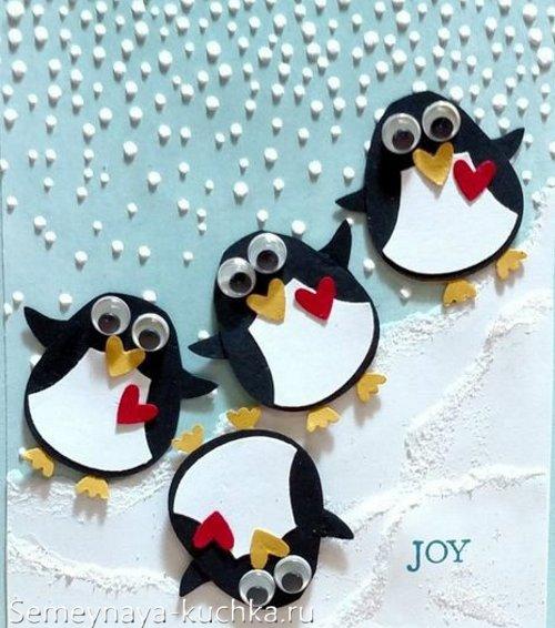 украшение офиса на новый год пингвины
