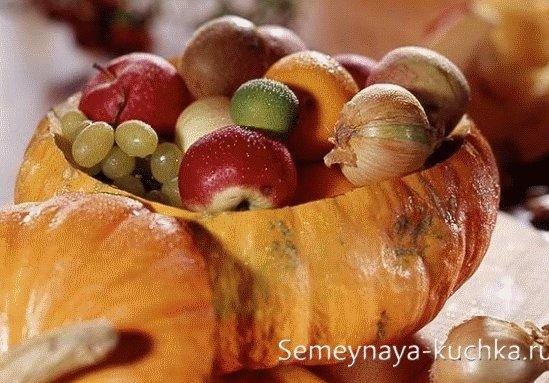идеи сервировки стола осенью