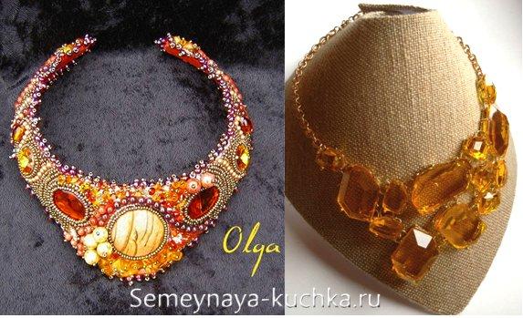 ожерелье невесты для осенней свадьбы