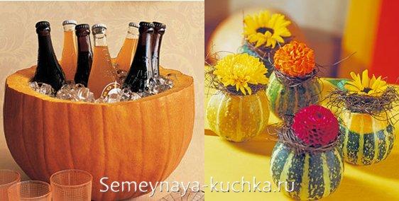 как украсить стол осенью