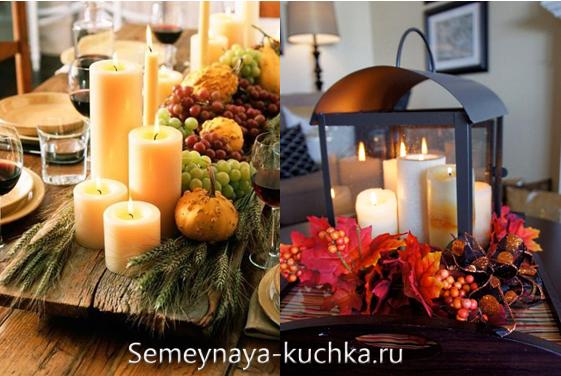 как украсить свадебный зал осенью
