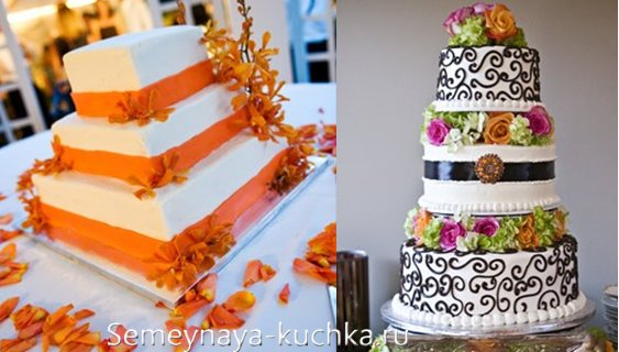 фальшивые торты для украшения свадьбы