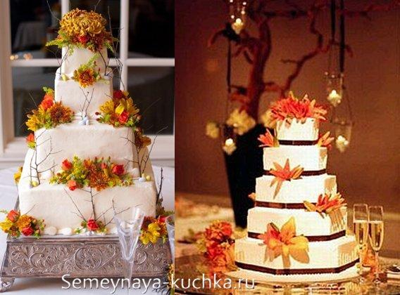 торт-муляж для осенней свадьбы