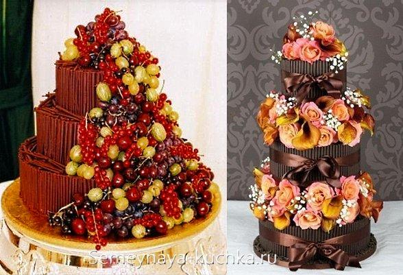 шоколадный торт-муляж