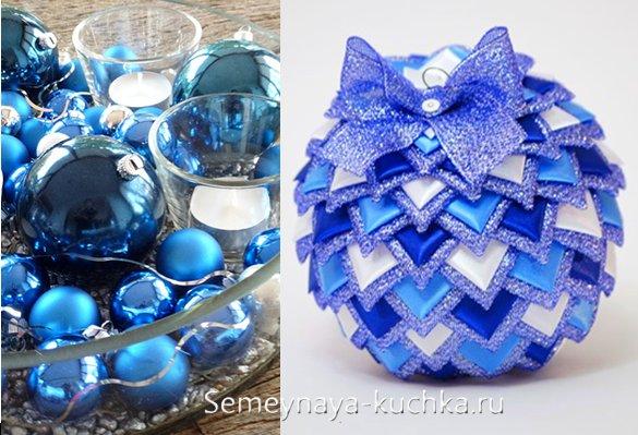 украшения на синий новый год