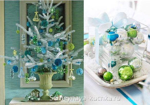 фисташковая синяя елка на новый год