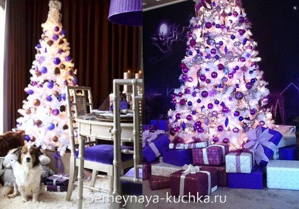 елка на синий новый год