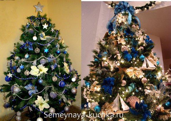 новогодняя синяя елка