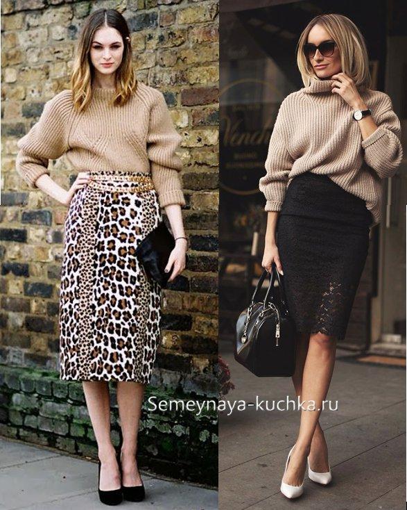 с чем носить юбки осенью и зимой