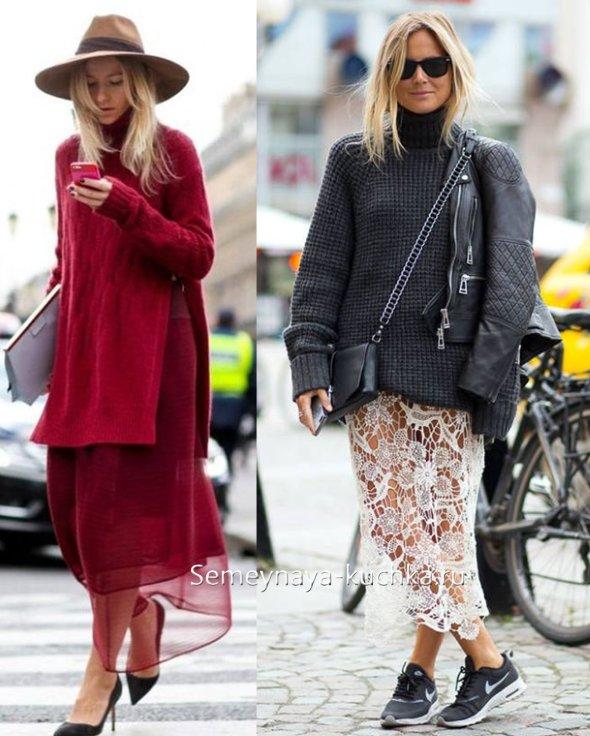 летние юбки как носить зимой и осенью