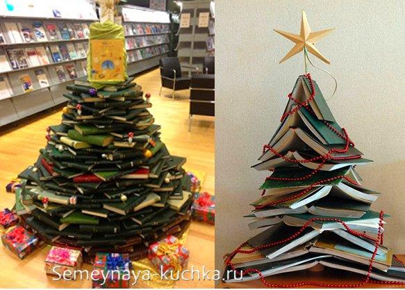необычная елка из книг