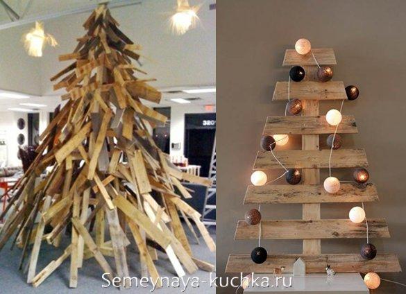 новогодняя елка из досок