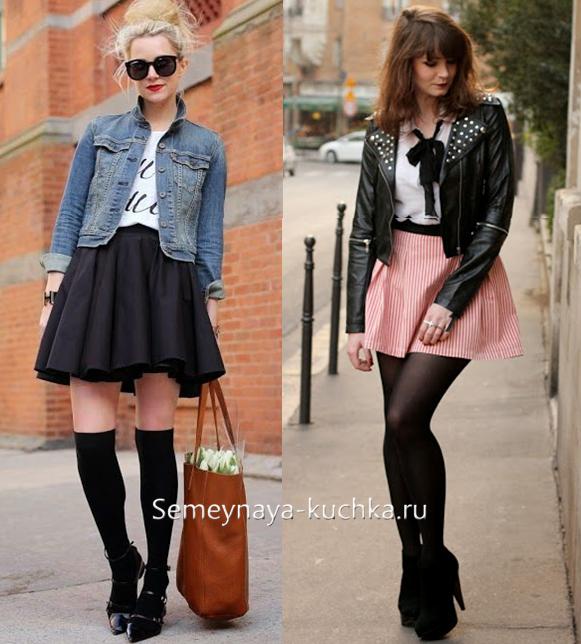 Куртки и юбки из замши