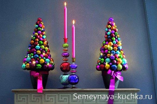 новогодняя поделка елка из шаров