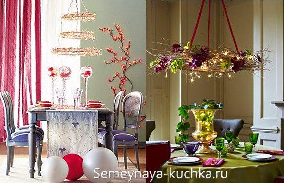 подвесные новогодние венки