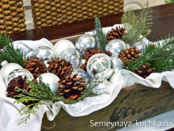 новогоднее украшение для стола
