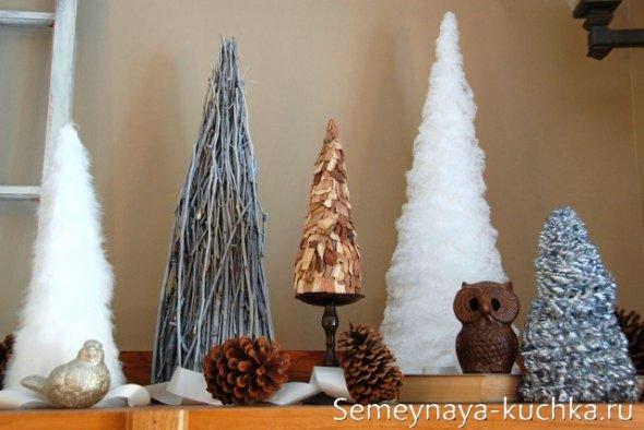 новогодняя поделка елка из природного материала