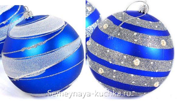 новогодний шар с манной крупой