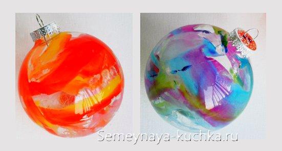 новогодний шар как покрасить