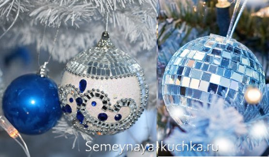зеркальный новогодний шар